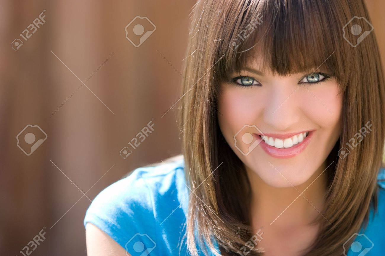 Chica sonriendo Foto de archivo - 4918229
