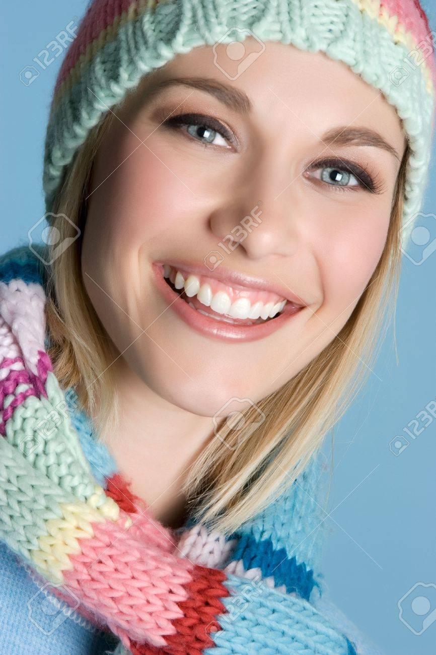 Smiling Winter Woman Stock Photo - 4977190