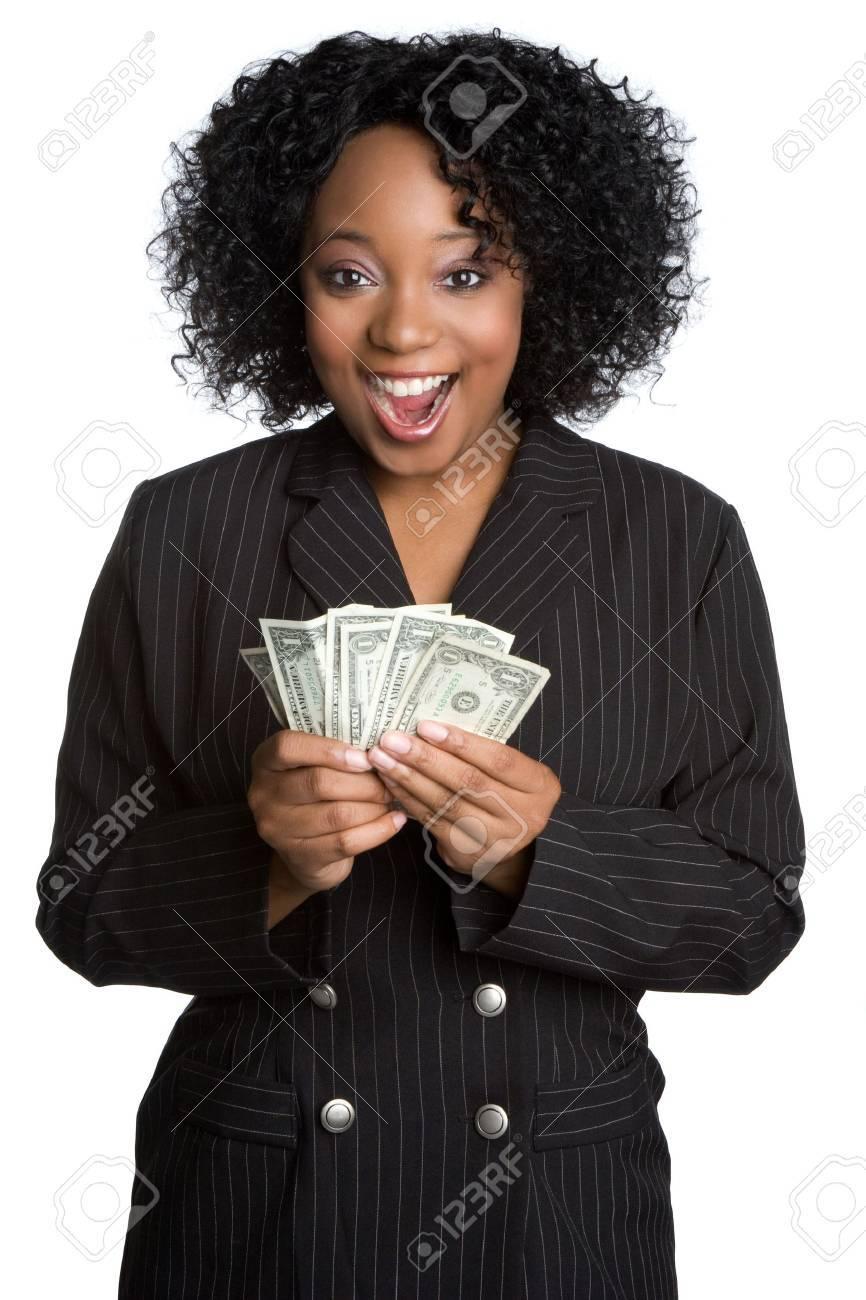Surprised Money Woman Stock Photo - 5102096