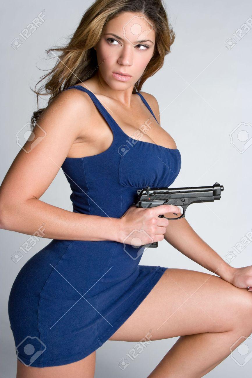 Woman With Gun Stock Photo - 5165510