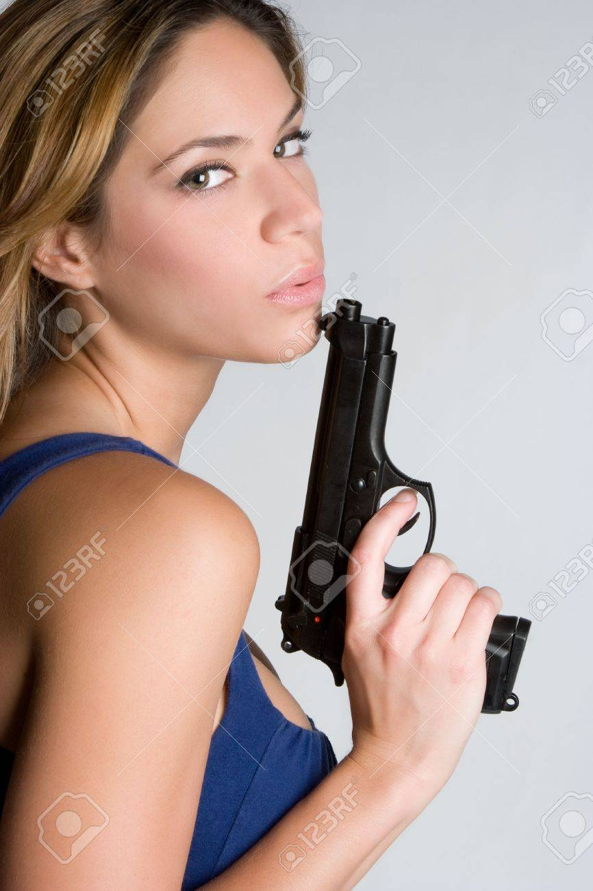 Woman With Weapon Stock Photo - 5288586