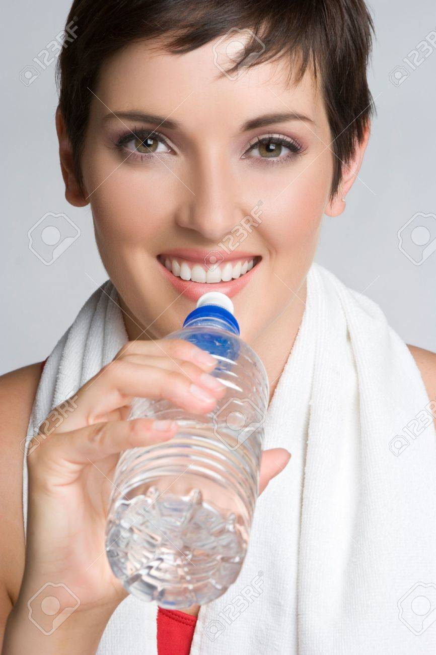 Smiling Water Bottle Girl Stock Photo - 5501434