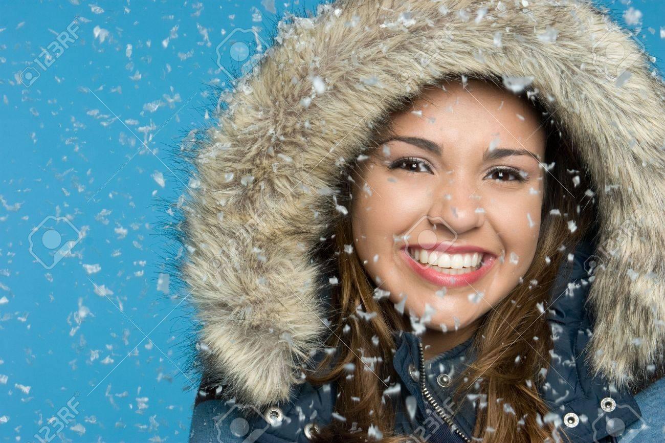 Girl in Snow Stock Photo - 5668639