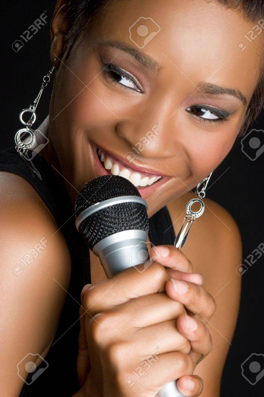 Black Woman Singing Stock Photo - 5804157