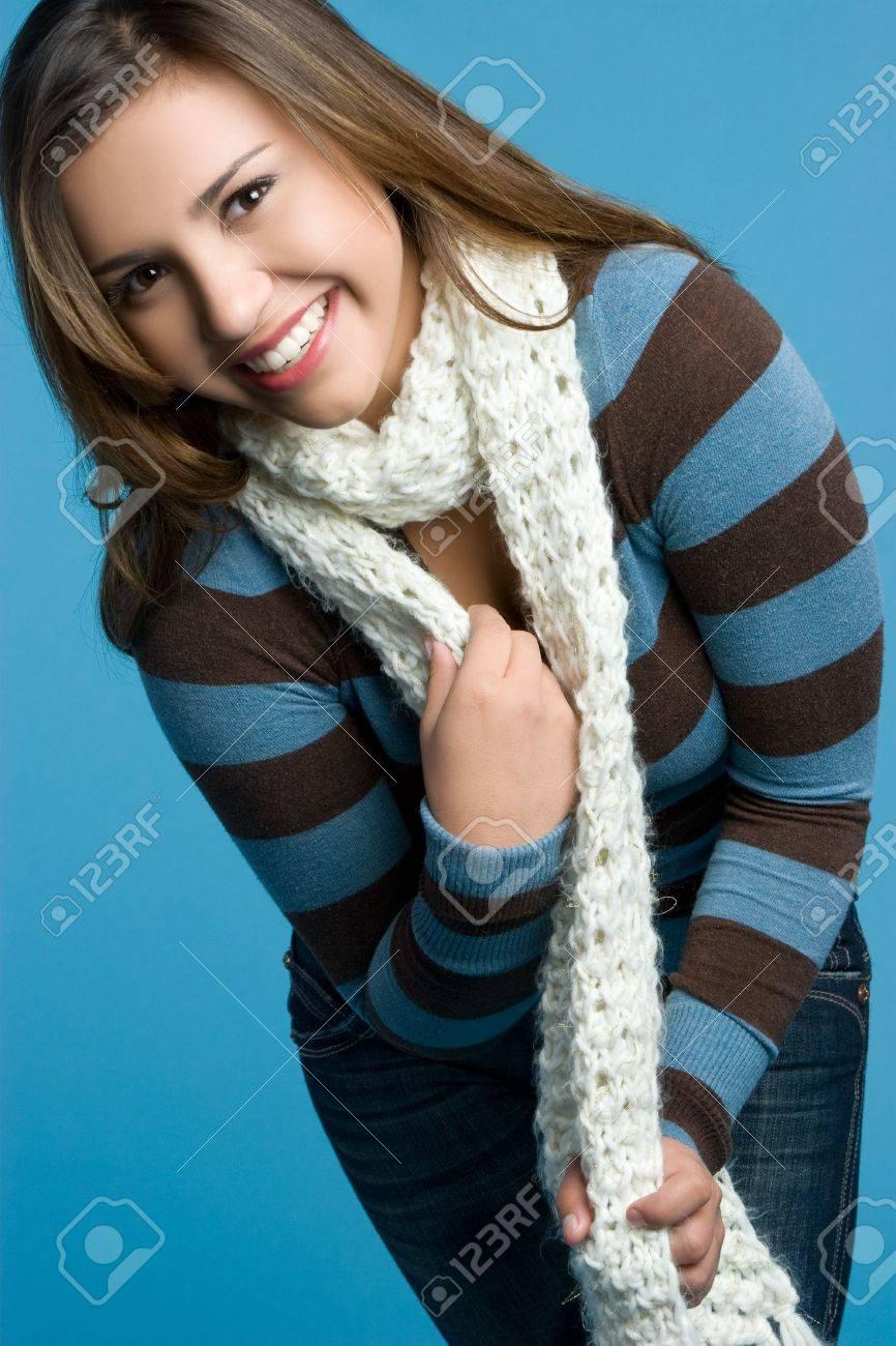 Winter Girl Wearing Scarf Stock Photo - 5898938