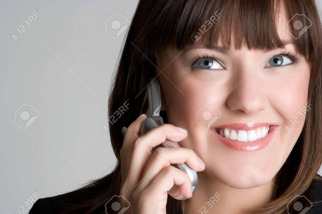 Smiling Phone Woman Stock Photo - 5931606