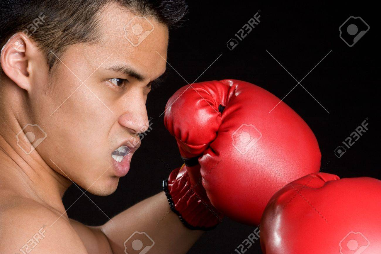 Asian Boxing Man Stock Photo - 5931605
