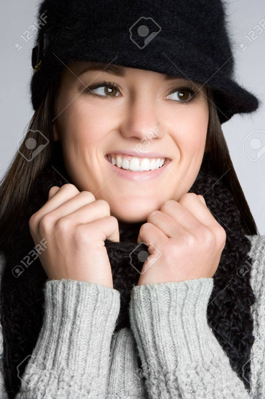 Winter Woman Smiling Stock Photo - 6059260