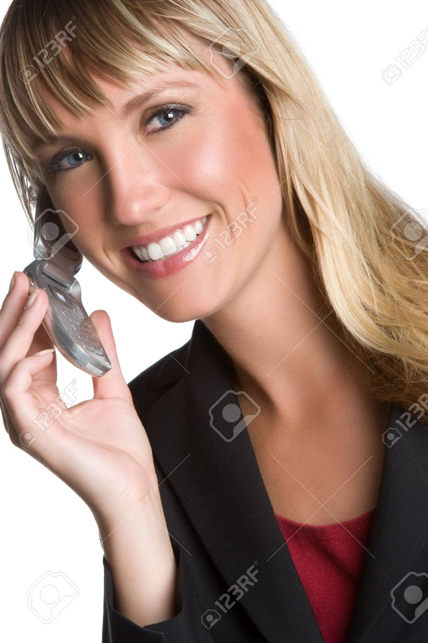 Smiling Woman on Phone Stock Photo - 6095013