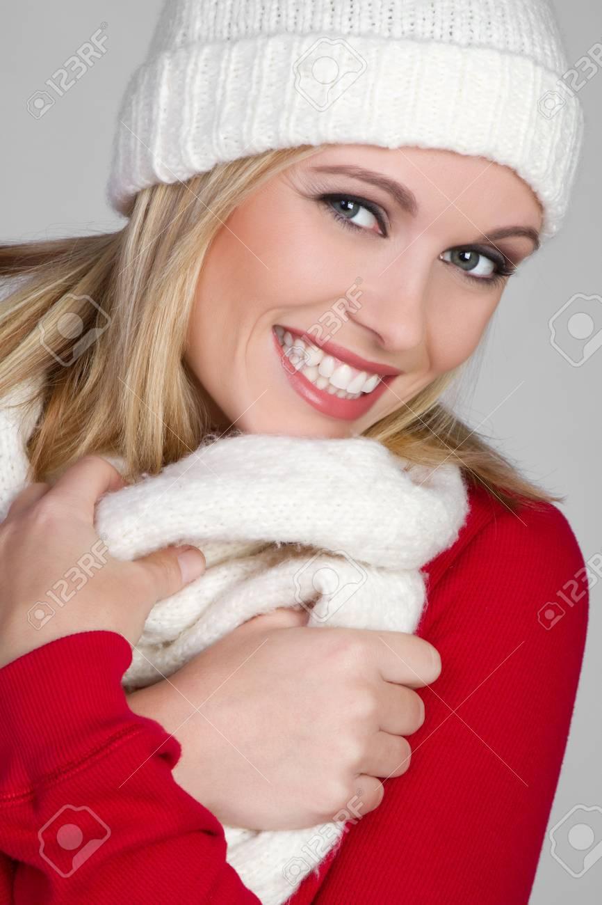 Winter Girl Smiling Stock Photo - 6141519