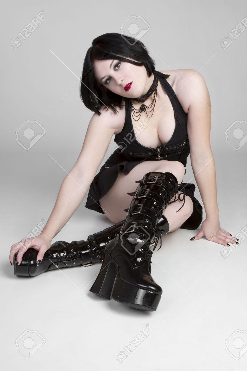 Gothic Girl Sitting Stock Photo - 6580997