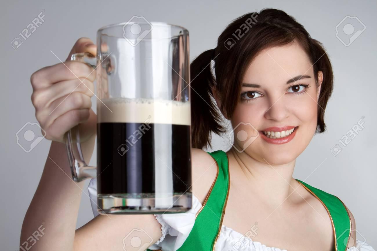 Smiling Beer Girl Stock Photo - 6419263