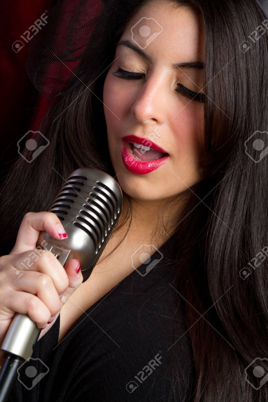 Singing Woman Stock Photo - 6494801