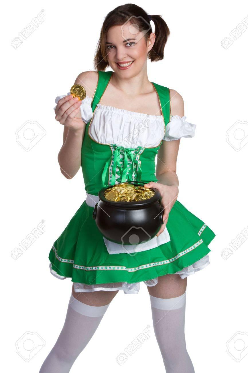 Smiling St Patricks Girl Stock Photo - 6581029