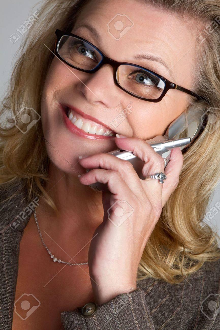 Smiling Phone Businesswoman Stock Photo - 6581032