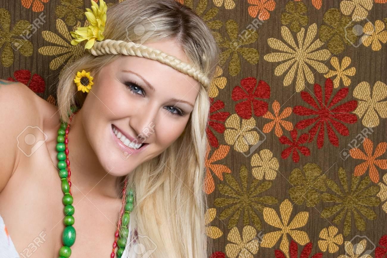 Smiliing Hippie Girl Stock Photo - 6546290