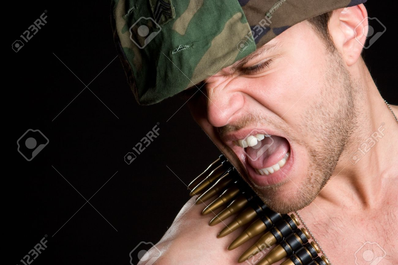 Angry Army Man Stock Photo - 6581121