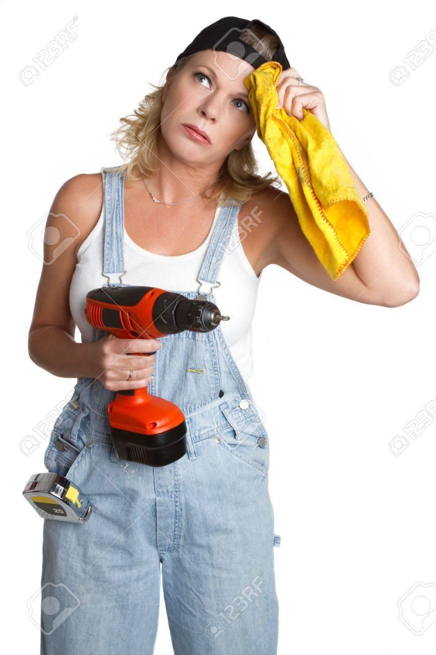 Handyman Woman Stock Photo - 6736354