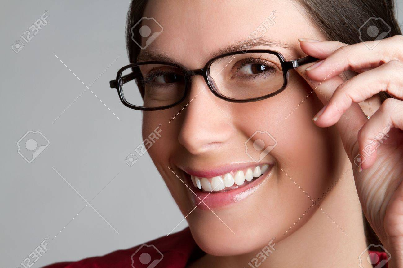 Woman Wearing Eyeglasses Stock Photo - 6781791