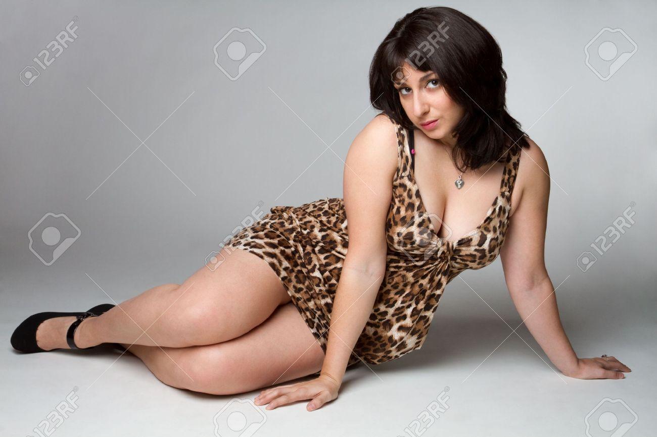 Leopard Dress Woman Stock Photo - 6781796