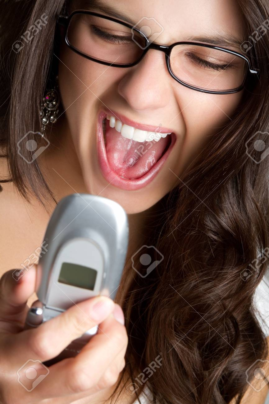Cell Phone Woman Yelling Stock Photo - 6829690