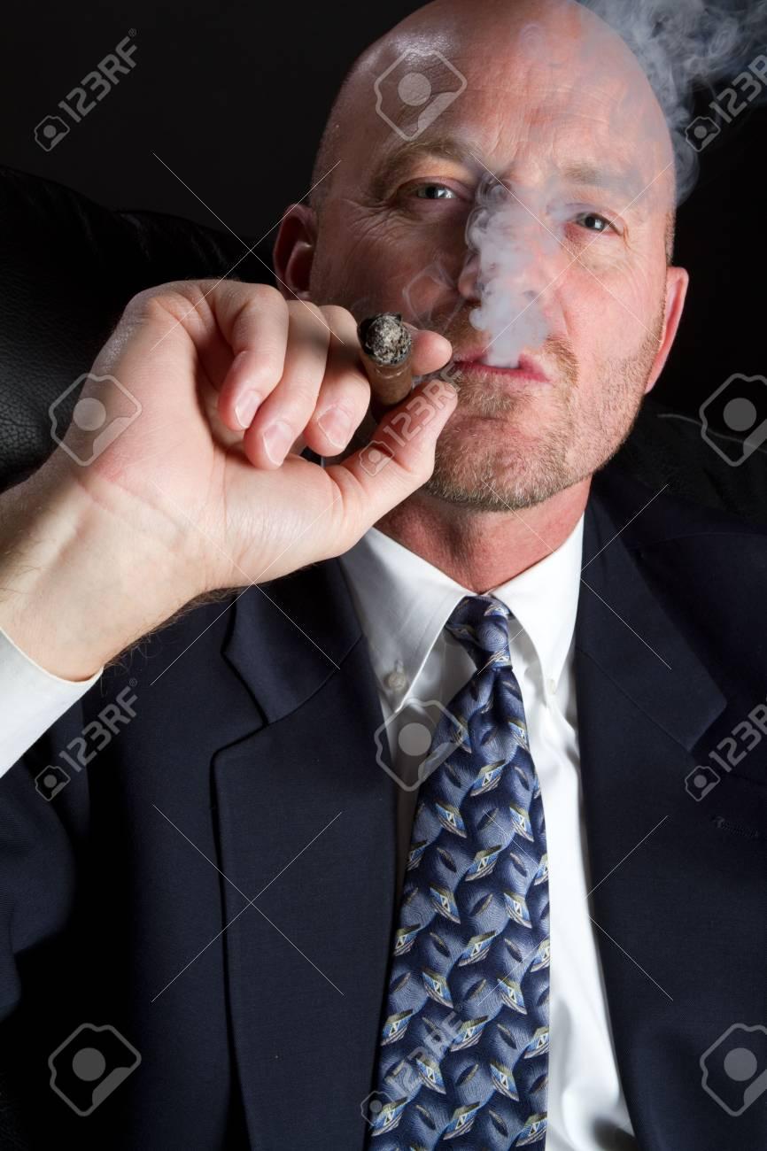 Businessman Smoking Stock Photo - 6857711