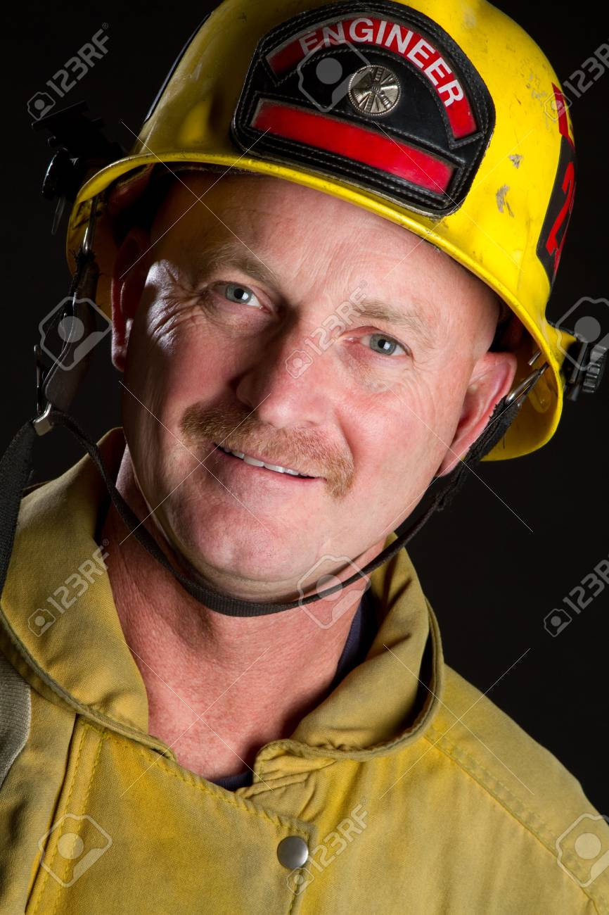 Fireman Smiling Stock Photo - 6921625