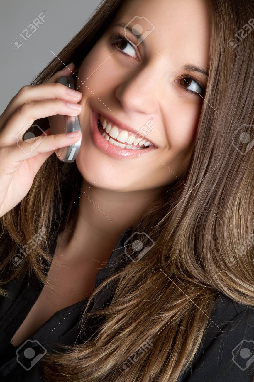 Young phone woman talking Stock Photo - 6990986