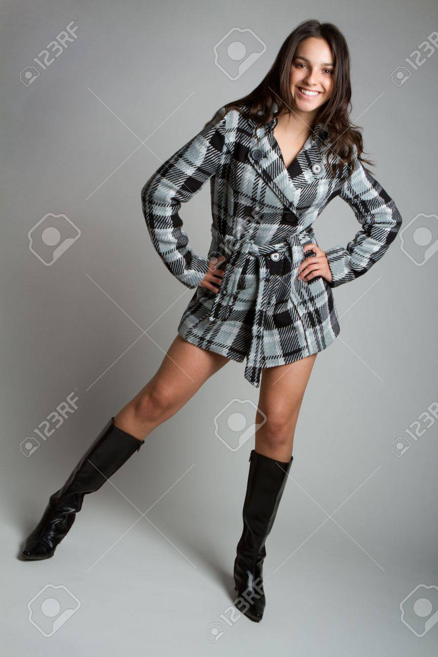 Beautiful smiling fashion woman posing Stock Photo - 6990998