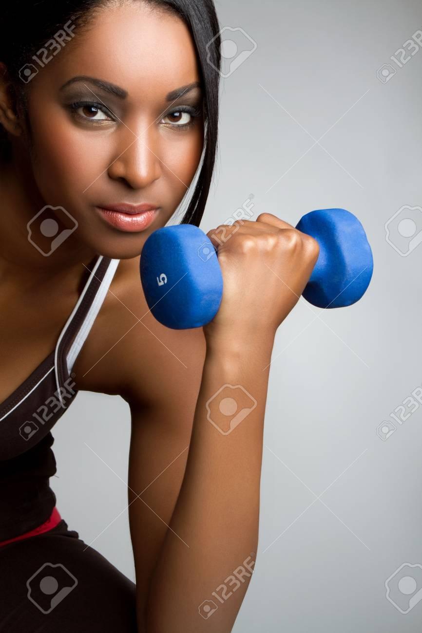 Beautiful african american fitness woman Stock Photo - 7148559