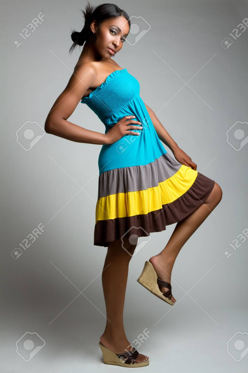 Black fashion woman Stock Photo - 7232772