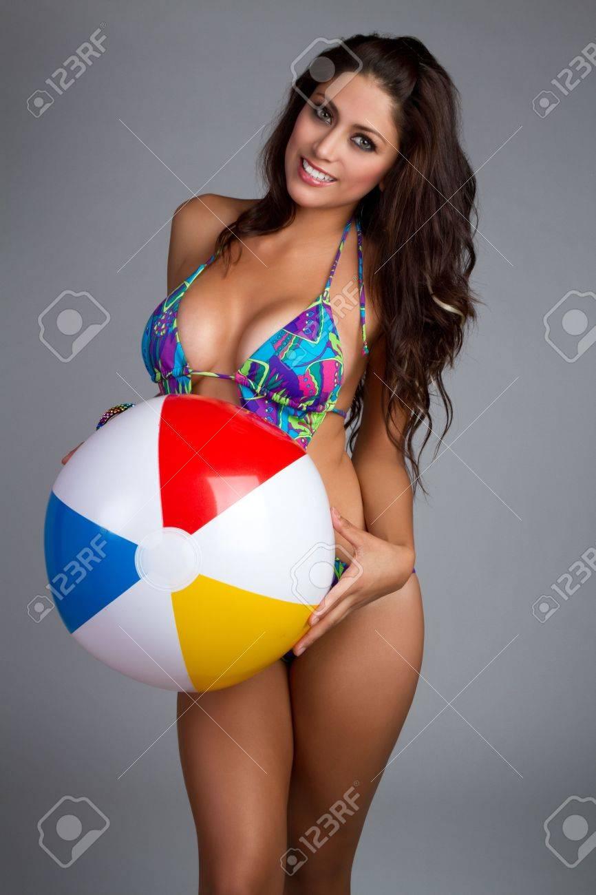 Beach ball woman Stock Photo - 7232774