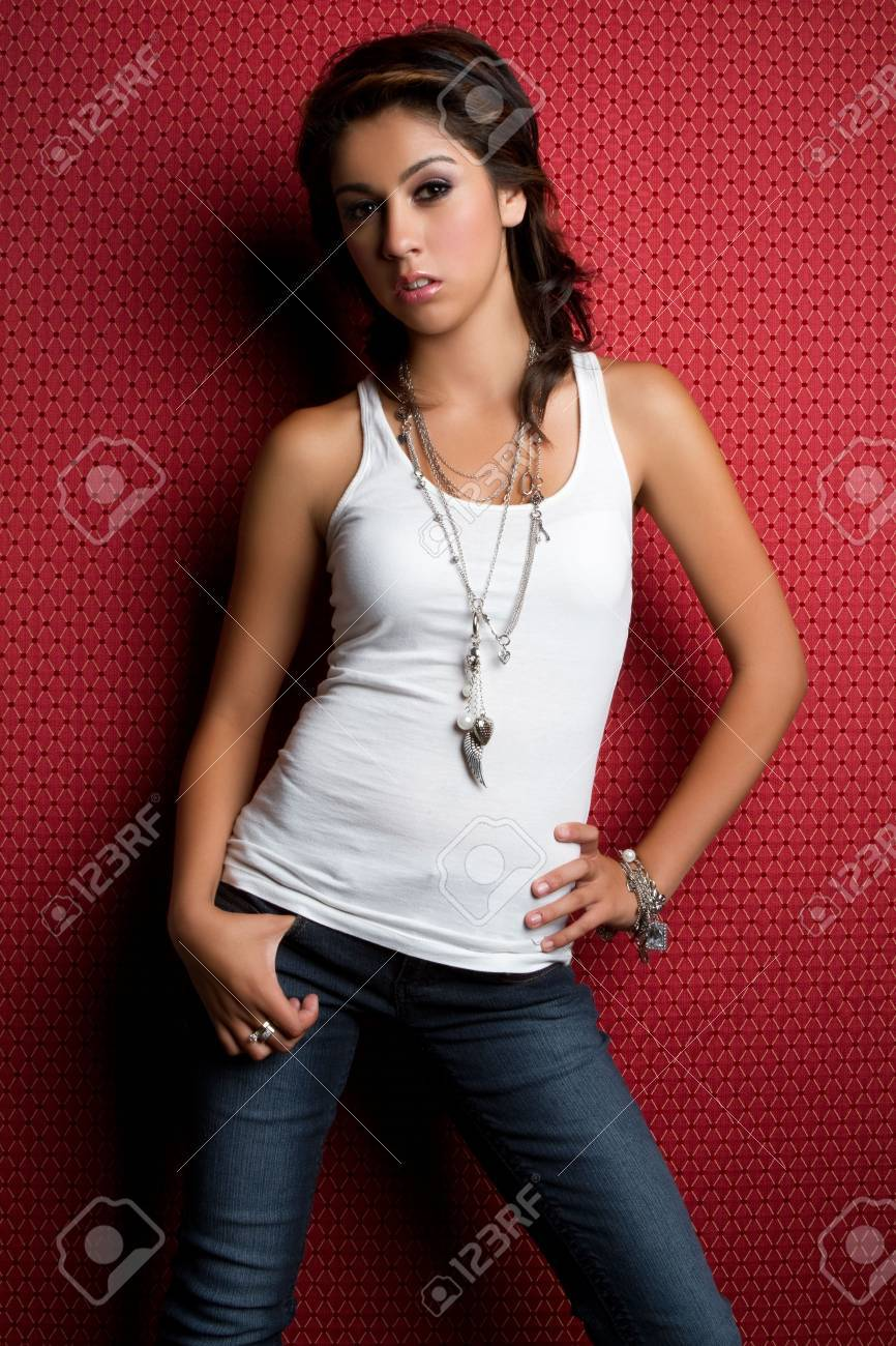 Pretty teen girl wearing jeans Stock Photo - 7525799
