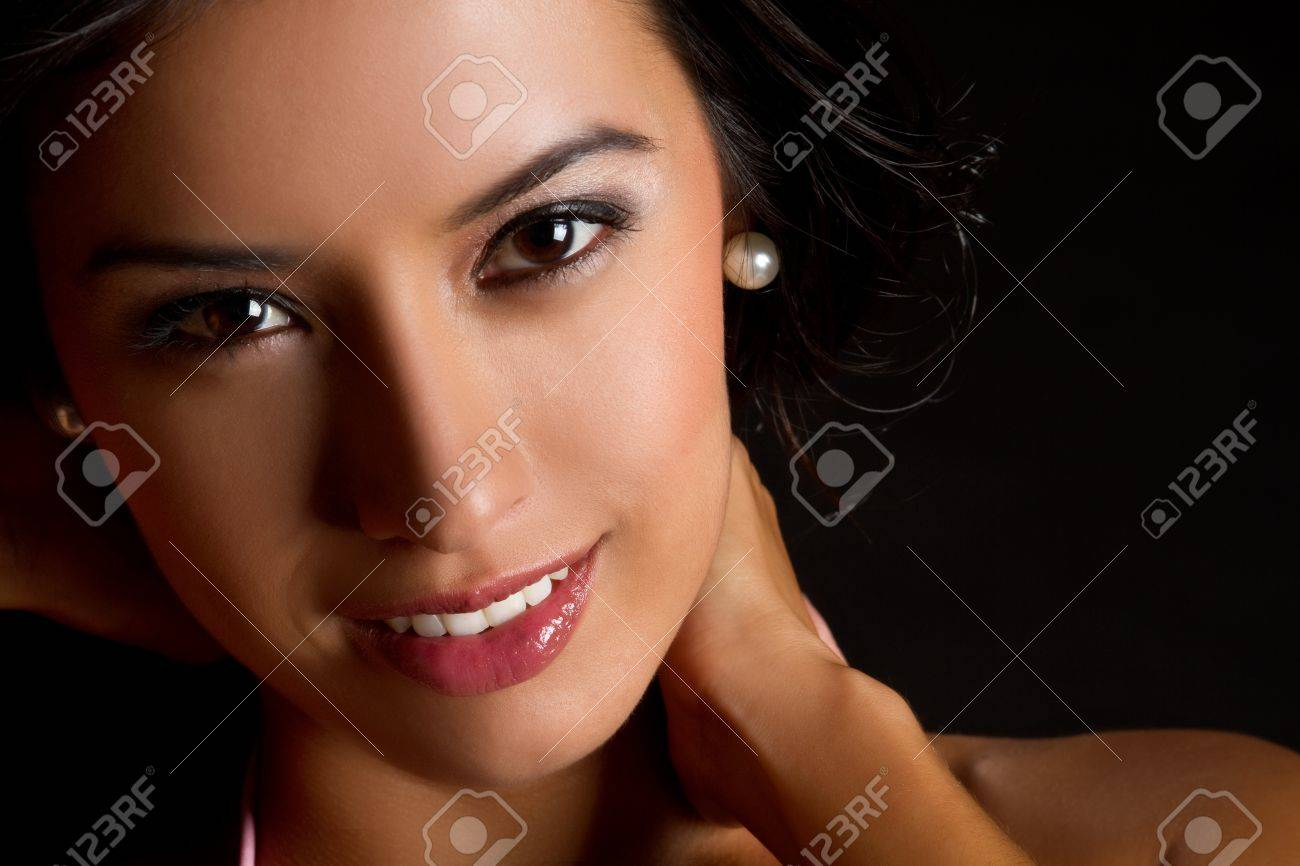 Beautiful young latin woman smiling Stock Photo - 9105745