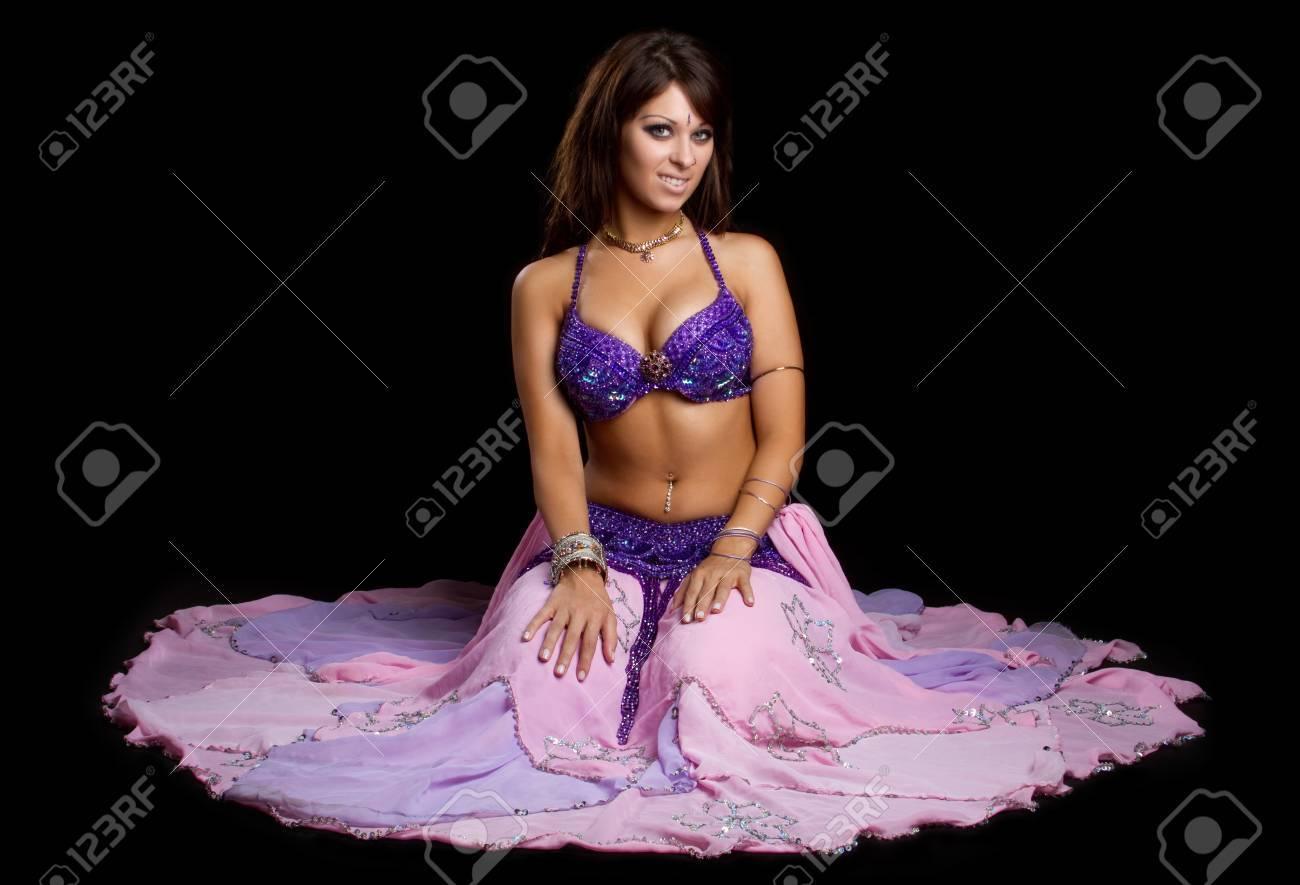 Beautiful belly dancer woman sitting Stock Photo - 10559464
