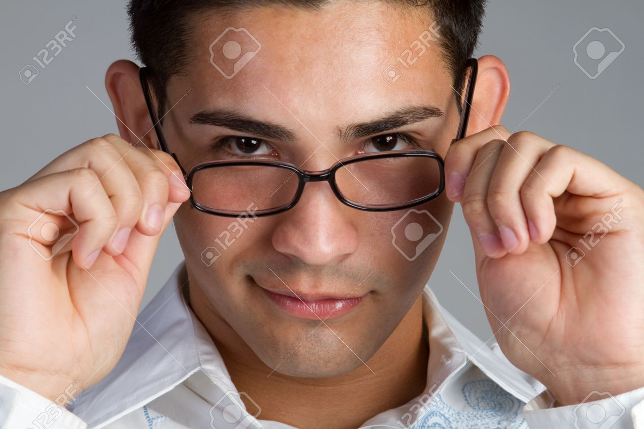Young hispanic man wearing glasses Stock Photo - 11215875
