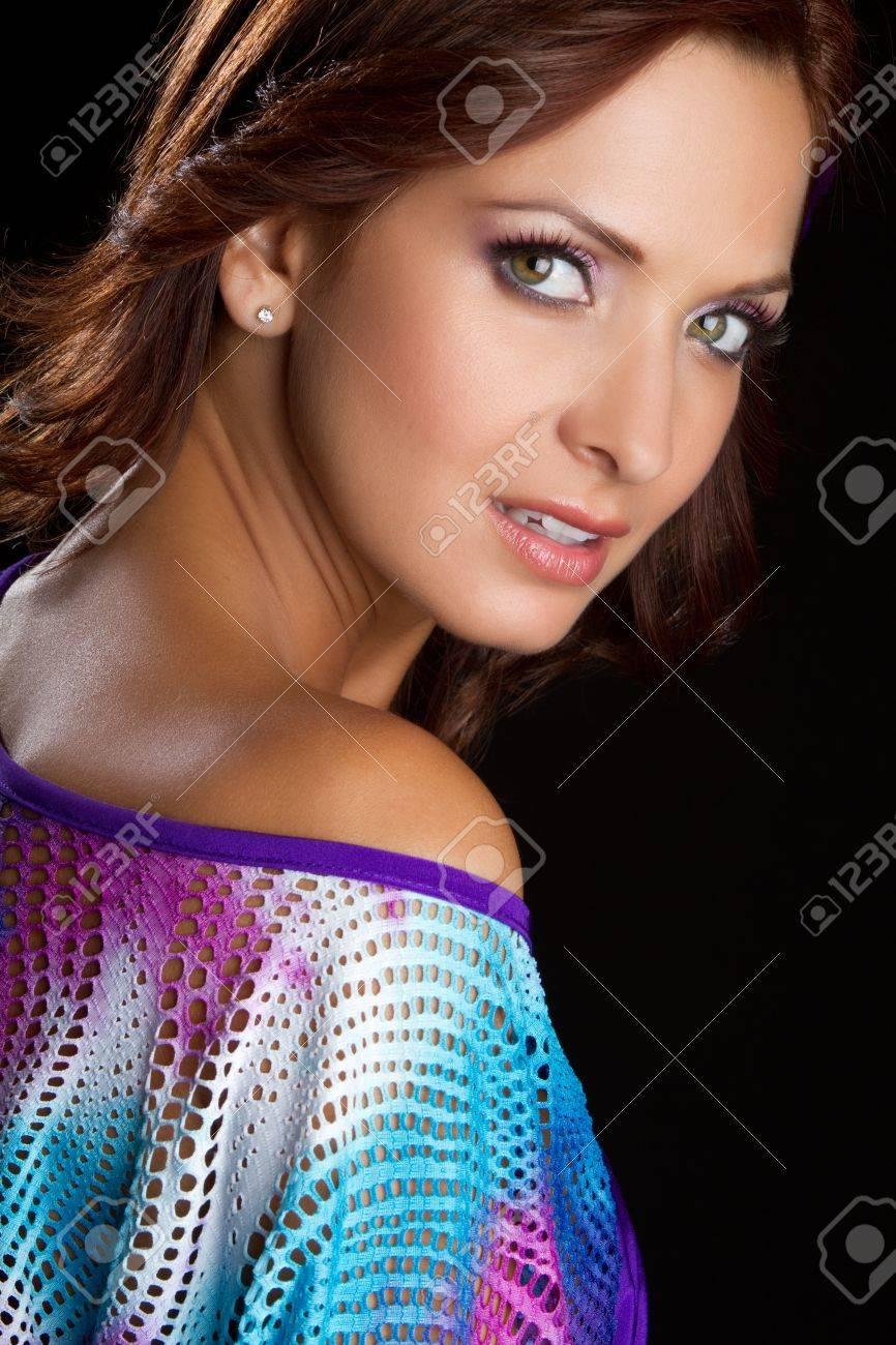 Beautiful latin woman headshot closeup Stock Photo - 11215905