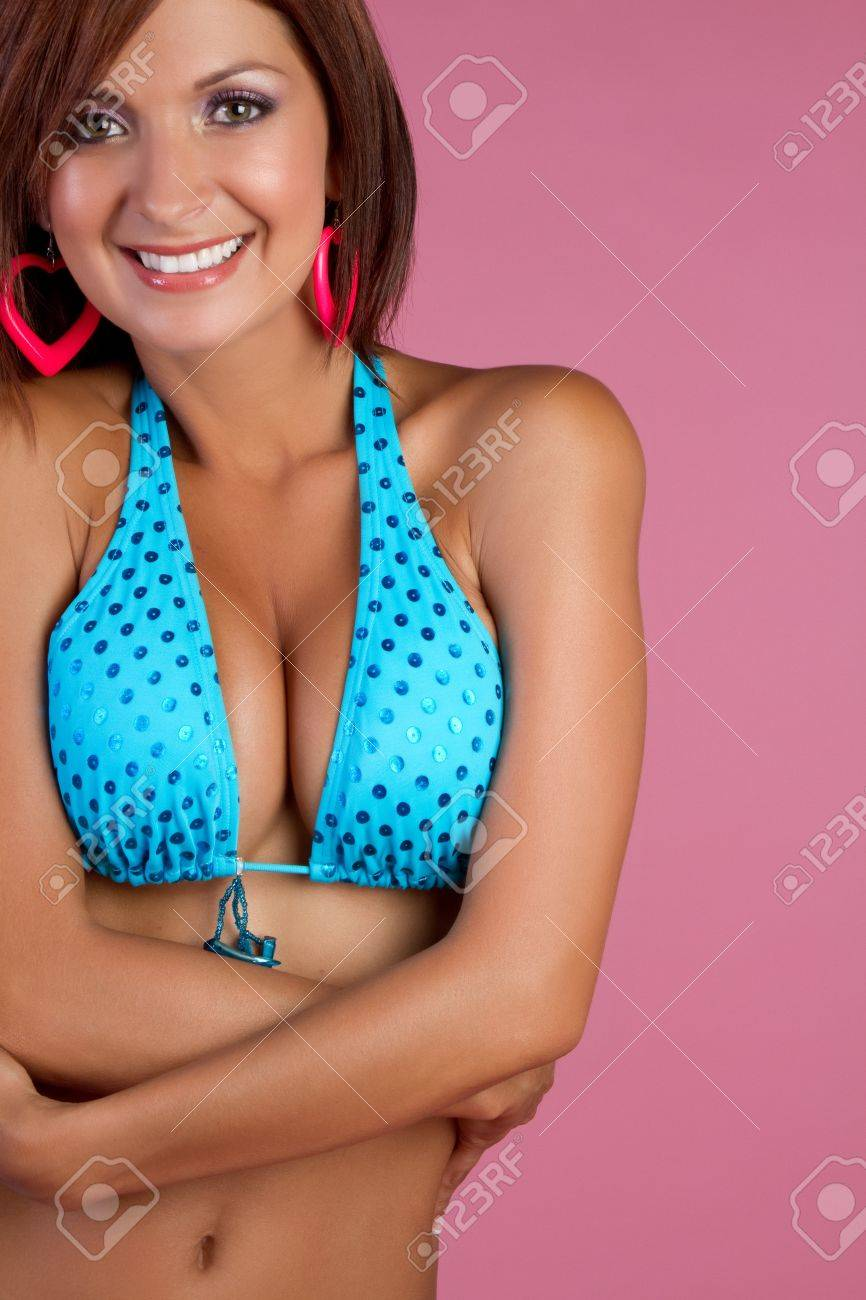 Beautiful latin bikini woman smiling Stock Photo - 11215903