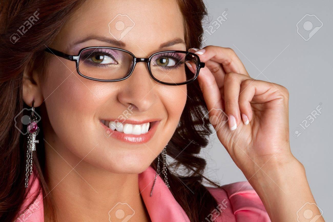 Beautiful smiling woman wearing glasses Stock Photo - 11215898