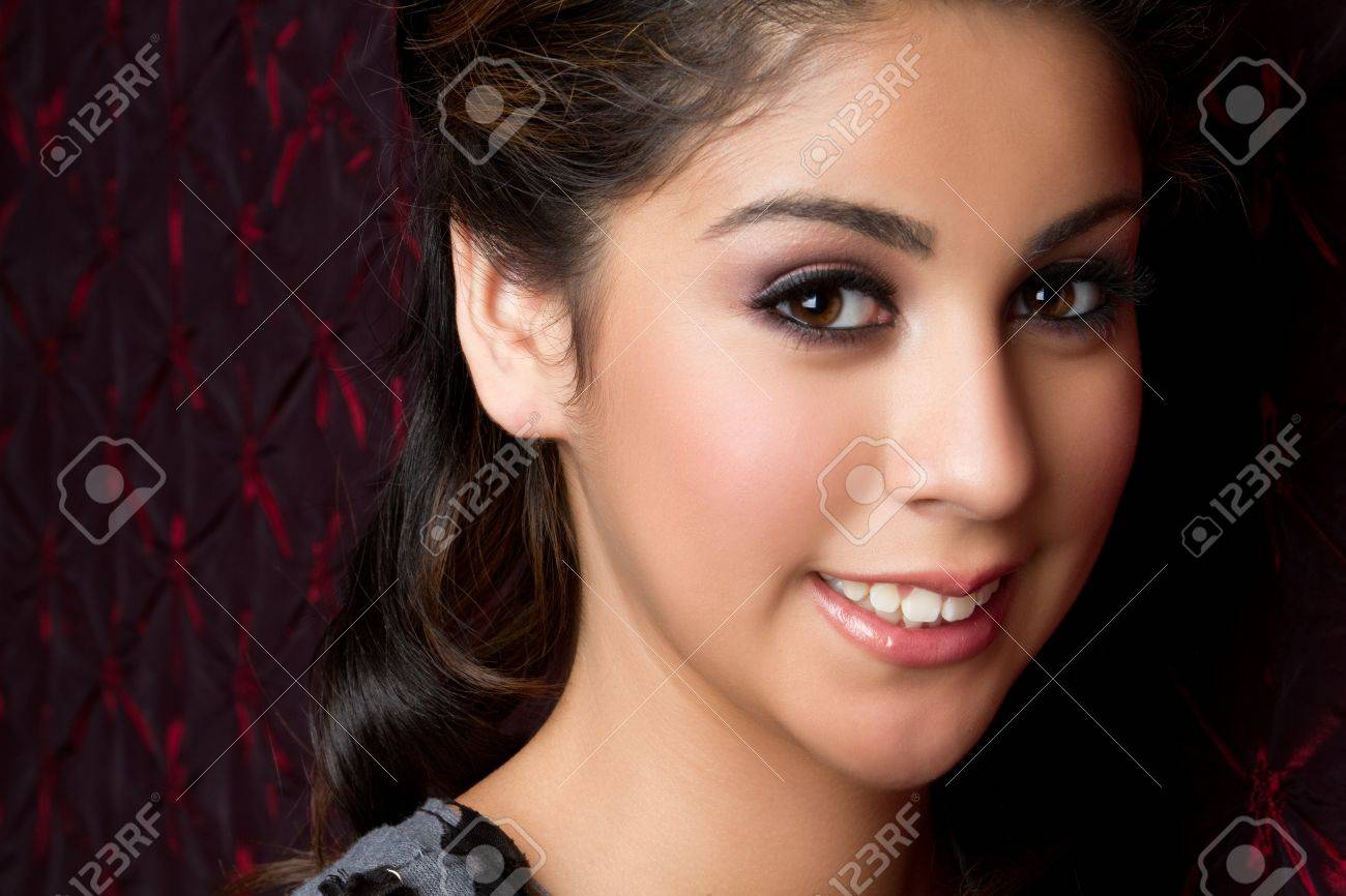 Beautiful smiling young woman closeup Stock Photo - 11215907