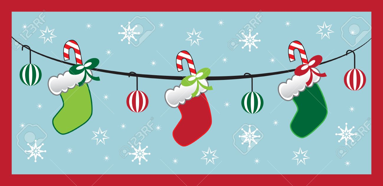 Hanging Christmas Stockings Royalty Free Cliparts, Vectors, And ...