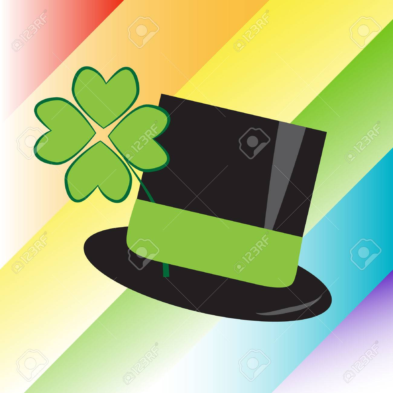 St Patricks Day Rainbow Hat Stock Vector - 8706416