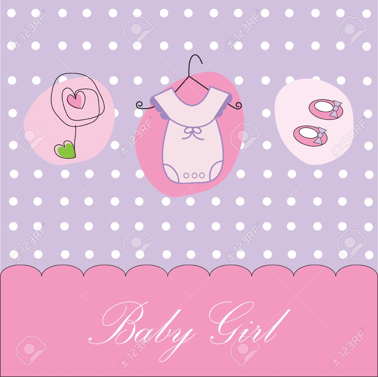 Baby Girl Background Stock Vector   9419728