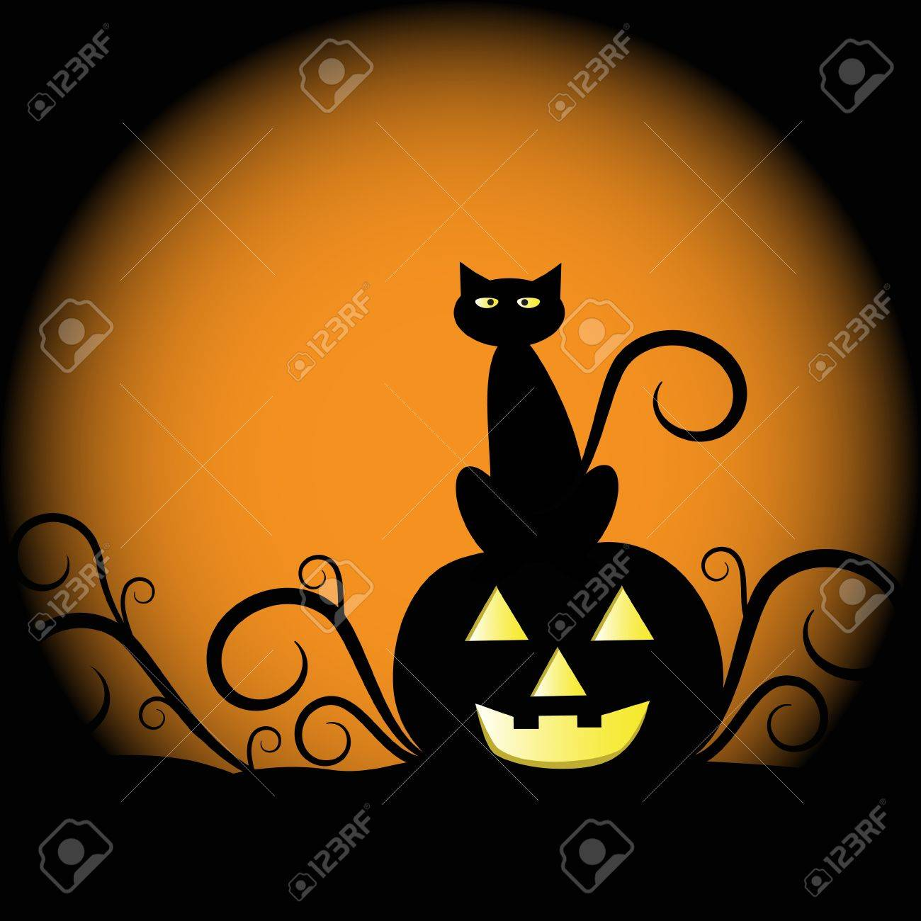 17,734 Halloween Cat Stock Illustrations, Cliparts And Royalty ...