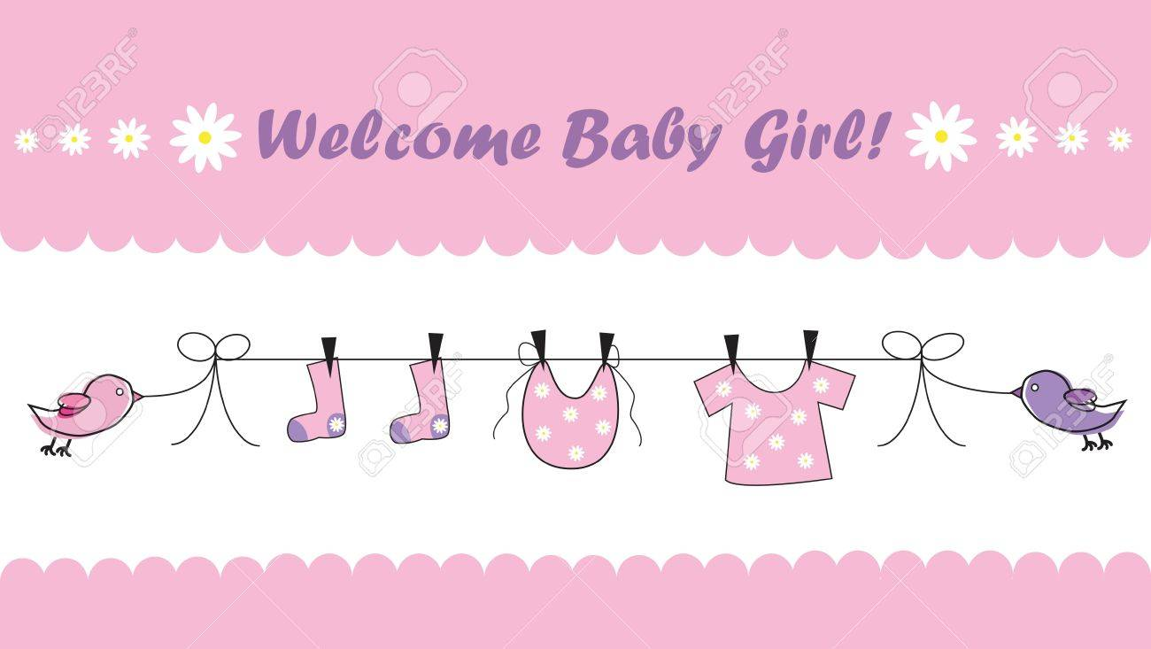 welcome baby girl royalty free cliparts vectors and stock