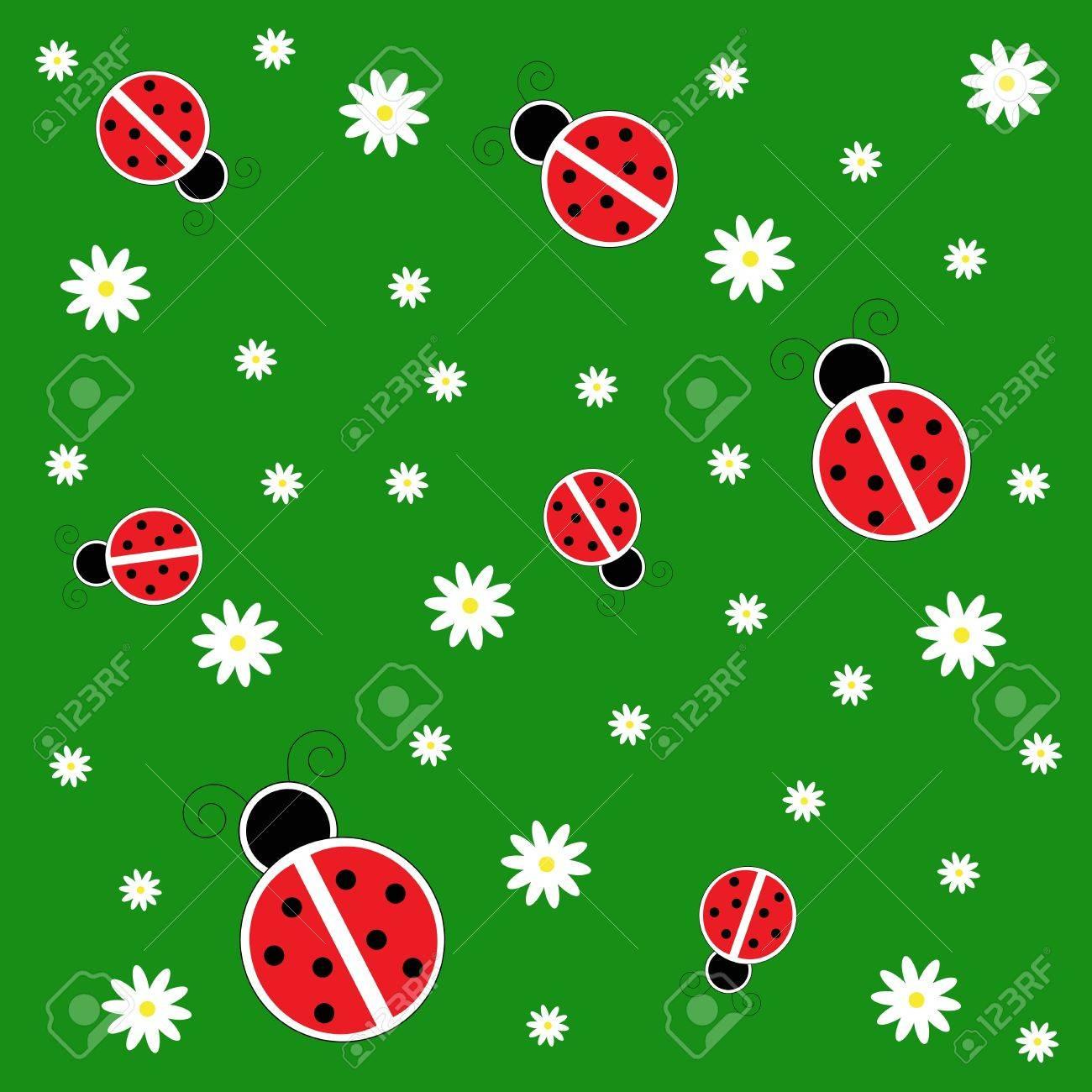 Ladybugs on Grass Stock Vector - 11085383
