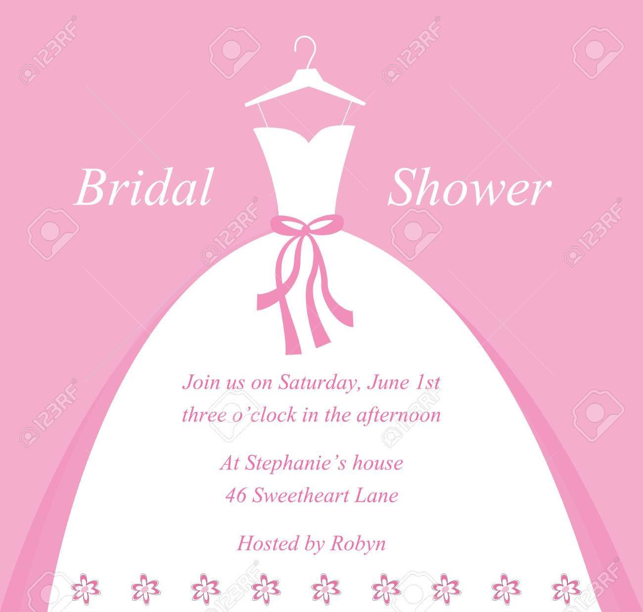 wedding bridal shower invitation royalty free cliparts vectors and rh 123rf com free bridal shower clipart for invitations free bridal shower clipart for invitations