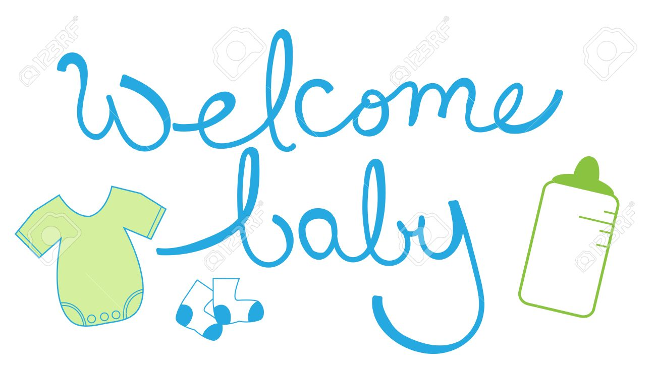 welcome baby boy royalty free cliparts vectors and stock