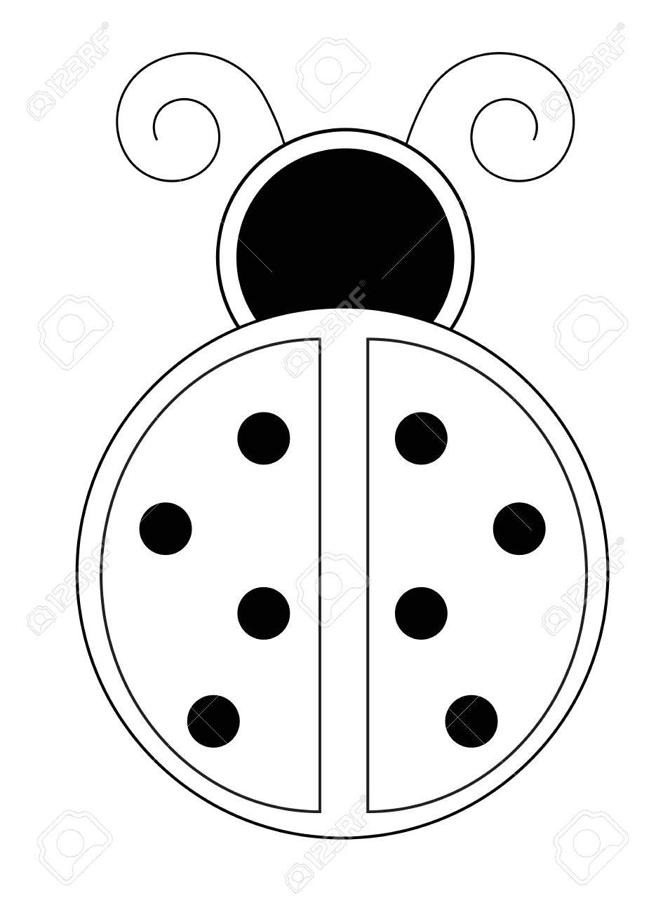 Ladybug Coloring Page Royalty Free Cliparts, Vectors, And Stock ...