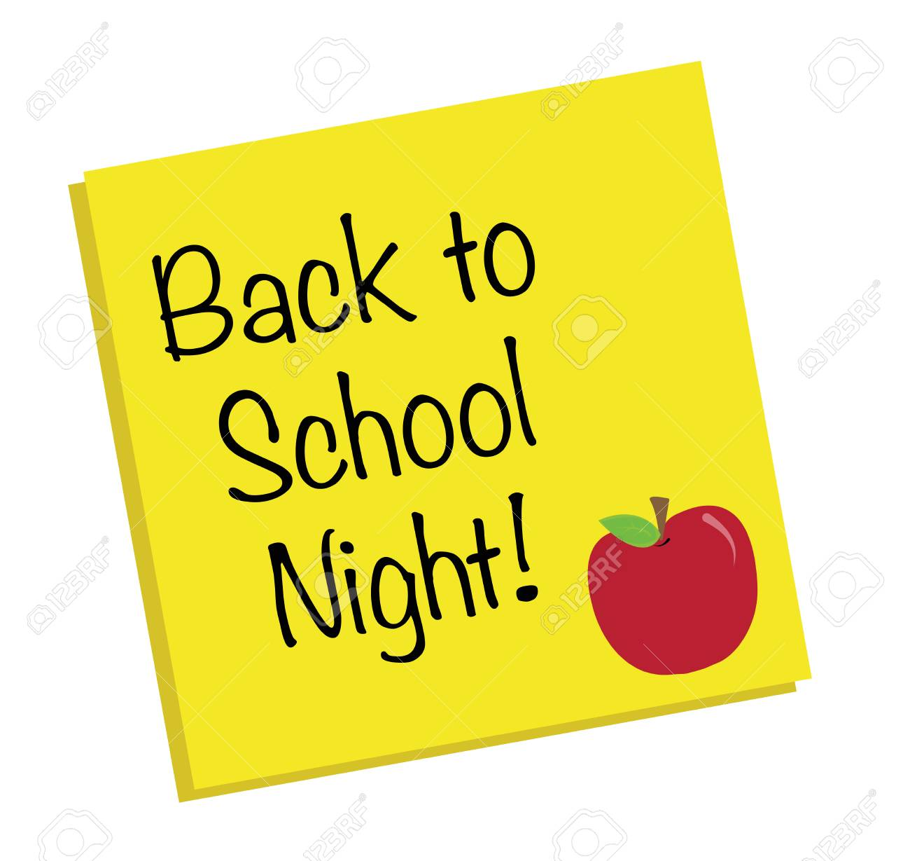 back to school night royalty free cliparts, vectors, and stock
